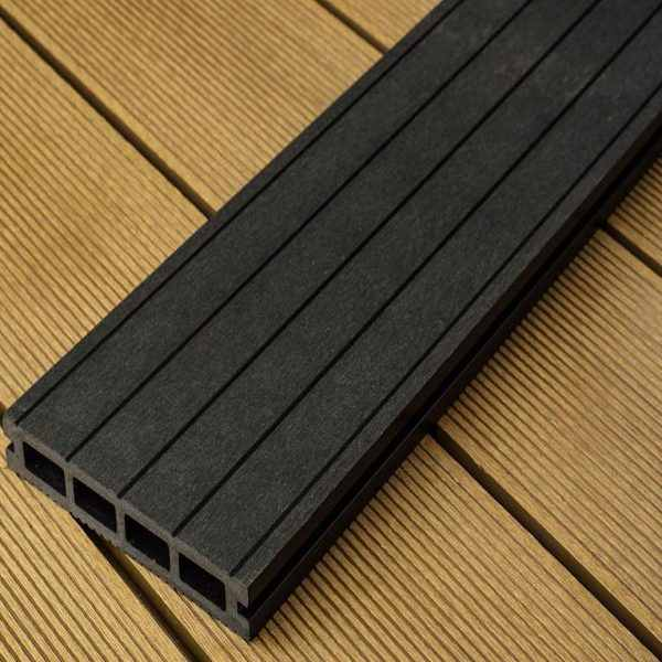 black charcoal hollow composite decking