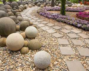 materiał wykończeniowy w ogrodzie